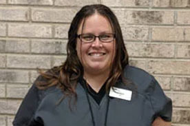 Veterinary technician Melissa H.